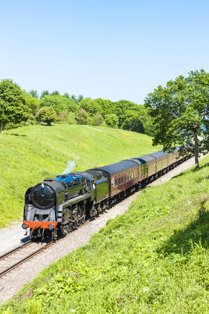 steam train, Gloucestershire Warwickshire Railway, Gloucestershire, England Stock Photo - 24165903