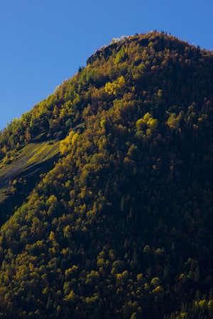 falltime: landscape near Otta river, Norway