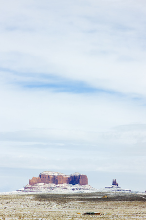 Monument Valley National Park in winter, Utah, Arizona, USA photo