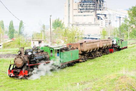 steam freight train, Kostolac, Serbia Stock Photo - 25420091