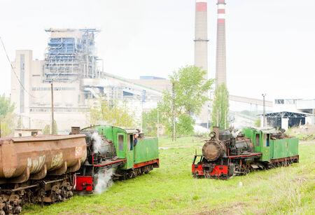 kostolac: steam freight train and locomotive, Kostolac, Serbia Editorial