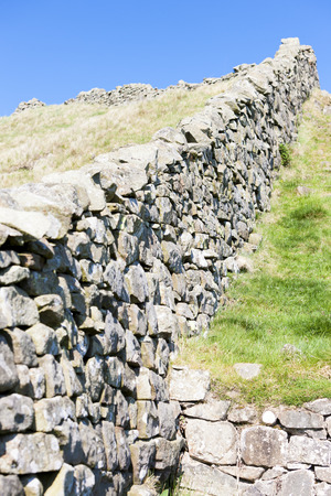 Hadrian's wall, Northumberland, England photo