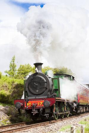 steam train, Strathspey Railway, Highlands, Scotland Stock Photo - 25420096