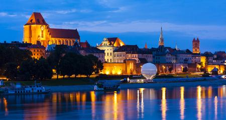 torun: Old town of Torun at night, Kuyavia-Pomerania, Poland