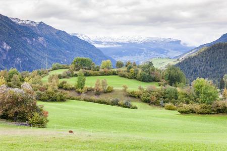 the silence of the world: Alps landscape near Filisur, canton Graubunden, Switzerland
