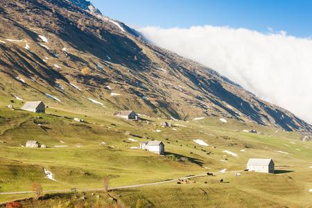 the silence of the world: Alps landscape near Andermatt, canton Graubunden, Switzerland Stock Photo