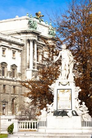 amadeus: Mozarts statue in Hofburg Palace garden, Vienna, Austria