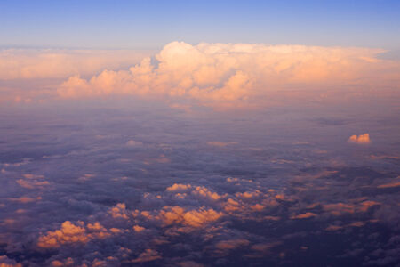 auroral: clouds - view from plane