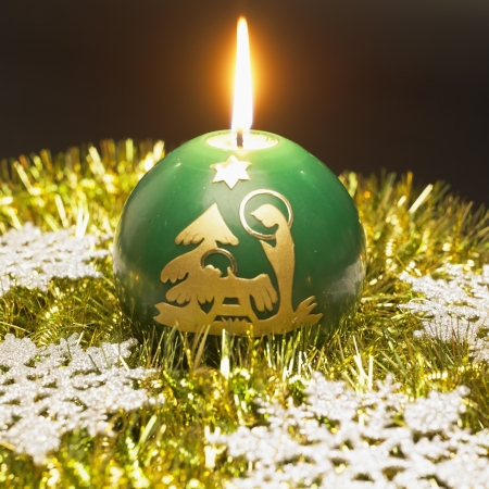 festival moment: Christmas candle