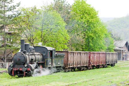 traction engine: steam freight train (126.014), Resavica, Serbia