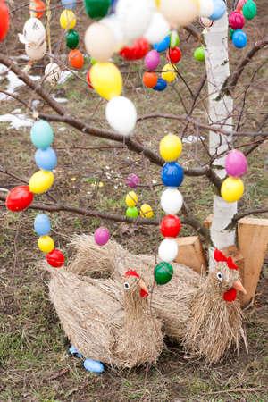 easter tree: Pasen boom met Pasen decoratie Stockfoto