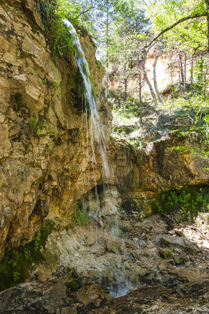 provencal: waterfall in Colorado Provencal, Provence, France