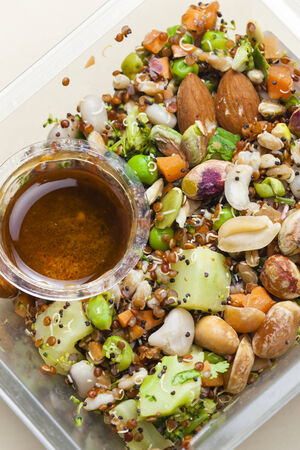 legume: legume salad with almonds