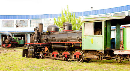 steam locomotives in depot, Kostolac, Serbia Stock Photo - 28239605