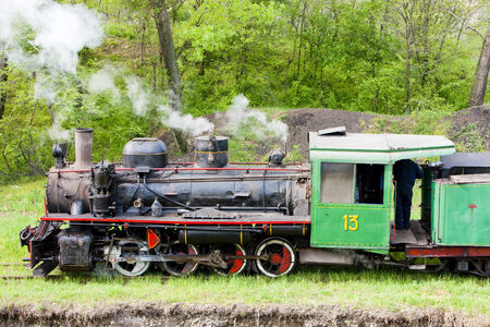 steam locomotive, Kostolac, Serbia Stock Photo - 28239608