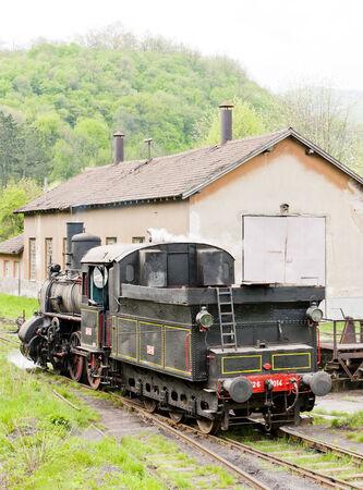 steam locomotive (126.014), Resavica, Serbia Stock Photo - 28239619