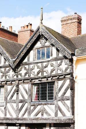 half  timbered: half timbered house, Ludlow, Shropshire, England
