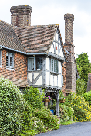 village house: house in Hever, Kent, England Editorial