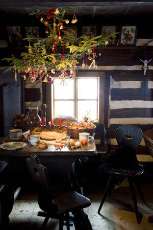 festival moments: Christmas room, scanzen Vesely Kopec, Czech Republic