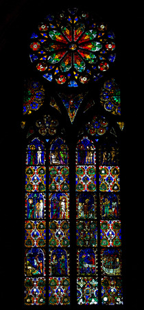 gothic build: interior of Cathedral Notre Dame, Strasbourg, Alsace, France