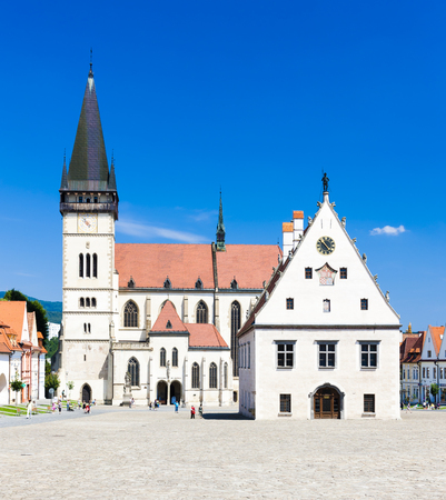 gildhall: Town Hall Square in Bardejov, Slovakia Editorial