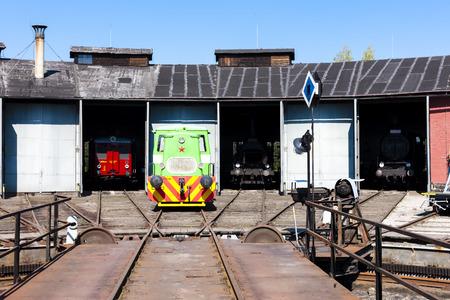 turning table: depot in Jaromer, Czech Republic Editorial