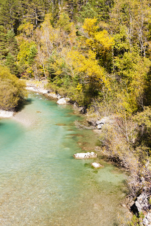 alpes: valley of river Verdon in autumn, Provence, France Stock Photo