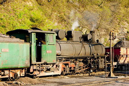 bosnia hercegovina: steam locomotive, delivery point in Oskova, Bosnia and Hercegovina
