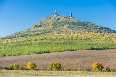 ceske: ruins of Hazmburk Castle, Ceske stredohori, Czech Republic Editorial