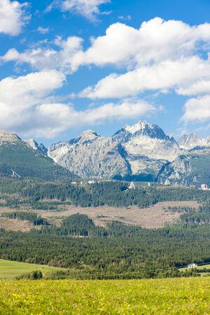 tatras tatry: Western part of Vysoke Tatry (High Tatras), Slovakia Stock Photo