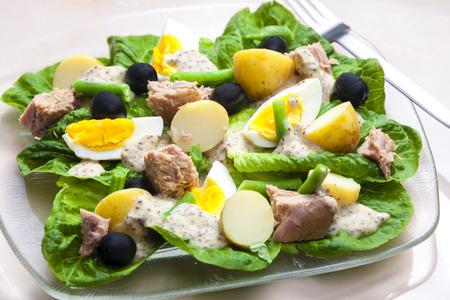 roman beans: Nicoise salad