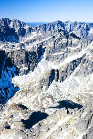 the silence of the world: view from Lomnicky Peak, Vysoke Tatry (High Tatras), Slovakia Stock Photo
