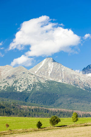 the silence of the world: Krivan Mountain and Western part of High Tatras, Slovakia Stock Photo