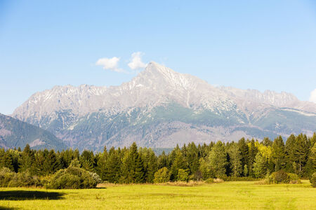 tatras tatry: Krivan Mountain, Vysoke Tatry (High Tatras), Slovakia Stock Photo