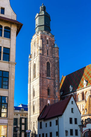 main market: St Elisabeths Church, Main Market Square, Wroclaw, Silesia, Poland