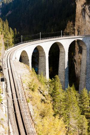 canton: Landwasserviadukt, canton Graubunden, Switzerland Stock Photo
