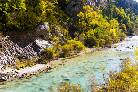 the silence of the world: Verdon Gorge in autumn, Provence, France