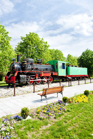southeast europe: steam locomotive, Kostolac, Serbia