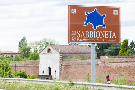 fortification: fortification of Sabbioneta city, Lombardy, Italy Stock Photo