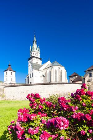by catherine: castle and church of Saint Catherine, Kremnica, Slovakia Stock Photo