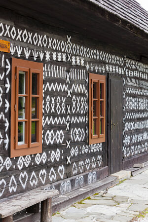 timbered: timbered house in Cicmany, Slovakia