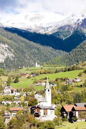 canton: Filisur, canton Graubunden, Switzerland Stock Photo