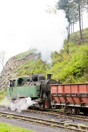 former yugoslavia: steam freight train, delivery point in Oskova, Bosnia and Hercegovina
