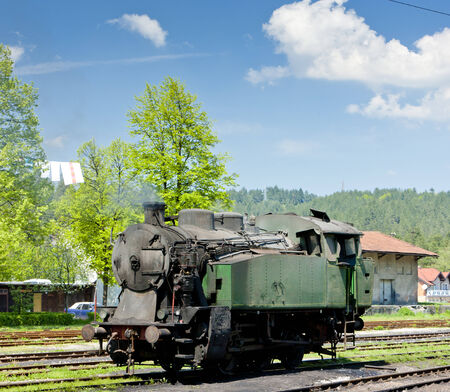 yugoslavia federal republic: steam locomotive, delivery point in Oskova, Bosnia and Hercegovina