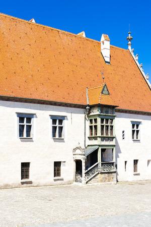 gildhall: town hall, Bardejov, Slovakia Stock Photo