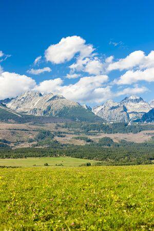 the silence of the world: Western part of Vysoke Tatry (High Tatras), Slovakia Stock Photo
