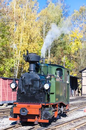 narrow gauge: steam locomotive, Johstadt, Germany Editorial
