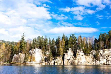 the silence of the world: Piskovna lake, Teplice-Adrspach Rocks, Czech Republic Stock Photo