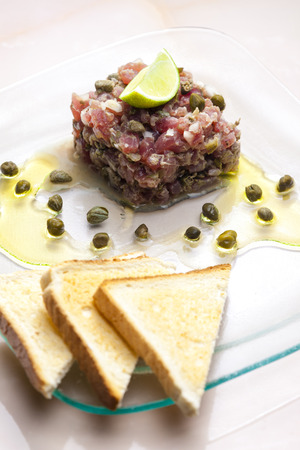 tartar: tuna tartar Stock Photo