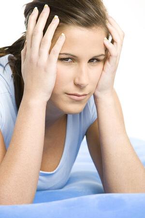 indisposition: womans portrait Stock Photo